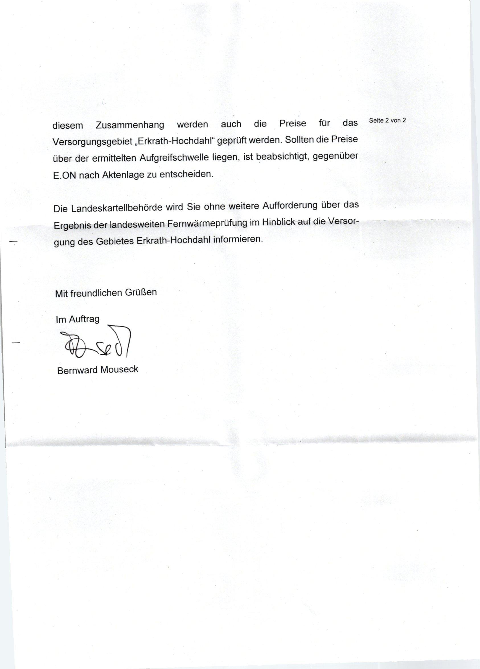 Schreiben der Landeskartellbehörde Seite 2